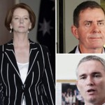 Gillard, Slipper and Thomson. Courtesy The Australian