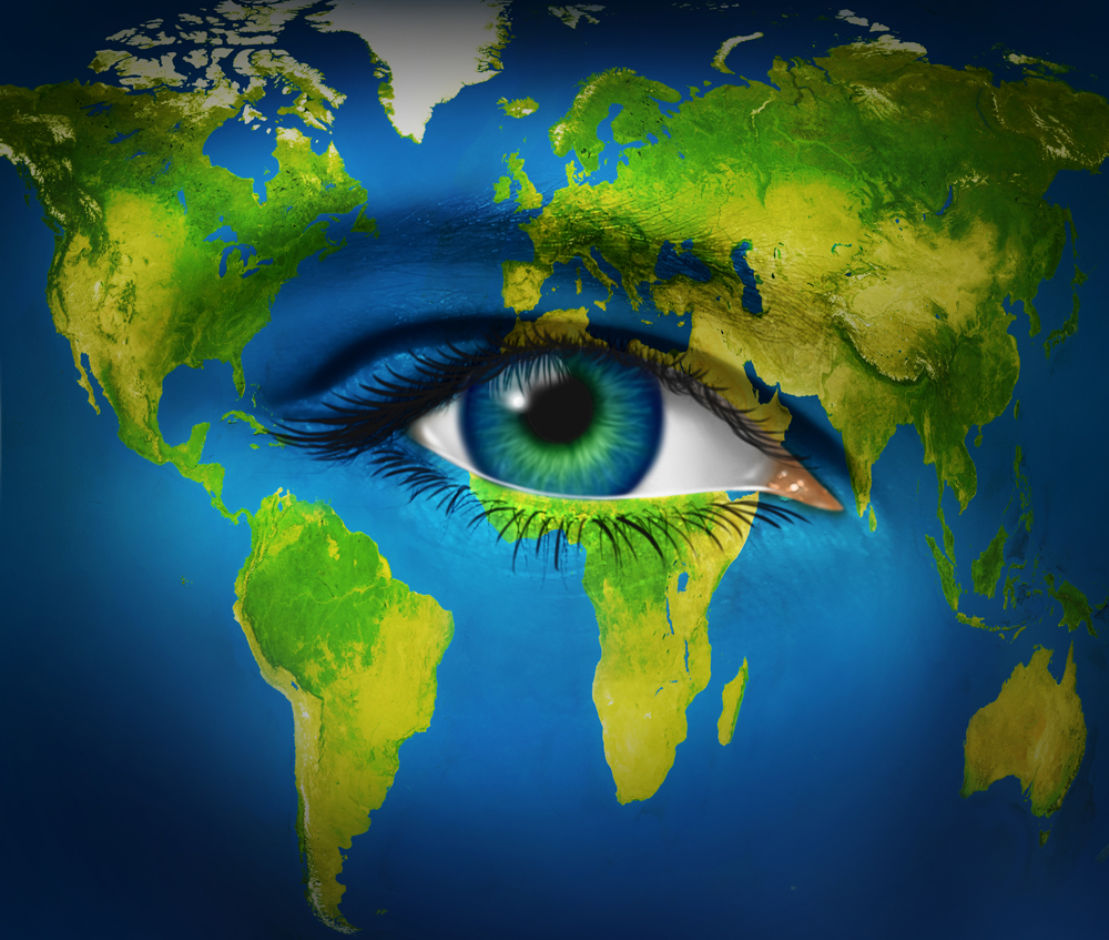 An eye over the planet