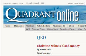 Quadrant Milne Blood Money