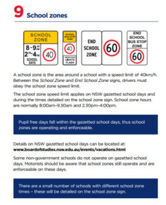 School Zones Top 10 Road issues