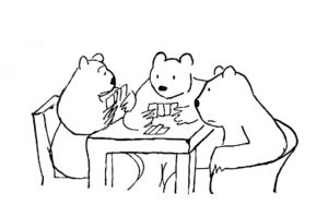 Thurber Fable Bears and Monkeys Image