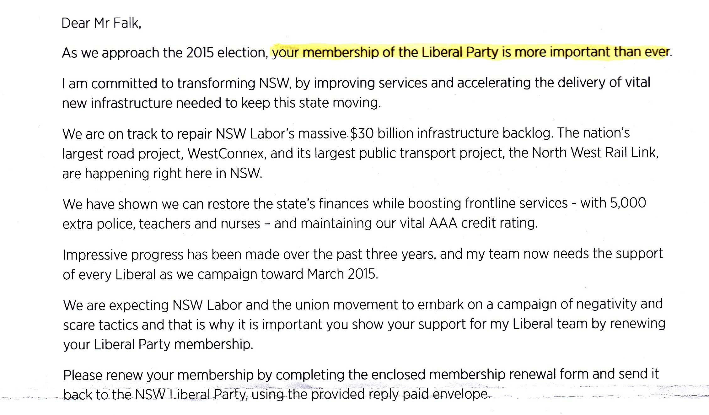 Short Liberal Membership Letter Jun 2014
